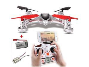 MJX X300C 2.4G 4CH 6-Axis RC Quadcoptepr FPV Real-time Video Drone Headless Mode One Key Return 3D Flips WIth 1MP Camera Throttle Limit Mode With Extra 1 Battery and 2 Pieces Motor (Silver)