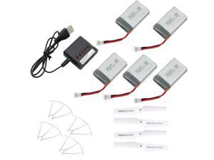 5 PCs 720mAh Batteries + 1 PCs 5in1 Charger+Blade+Protector For Syma X5C X5S-1 X5SW X5C-1