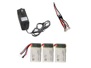 3pcs 360mAh Batteries+1PcsAC charger+1Pcs 3-in-1 Cable For Cheerson CX33 CX33C C33S CX33W Tricopter Spare Parts