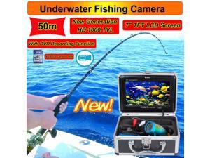 "Eyoyo 50M 7"" HD Screen LCD 800*480p Monitor 1000TVL Underwater Camera Ice/Sea Fishing Fish Finder With DVR Recording"