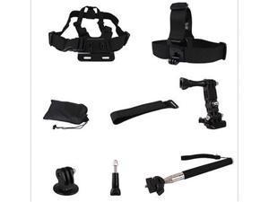 8-in-1 Accessories  Kit Selfie Stick Monopod Tripod Mount & Chest Strap For GoPro Hero 2,3,4,5,For SJCAM