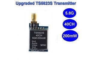 Upgraded TS5823S 200mw 5.8GHz 40 Channel Wireless Video and Audio AV Transmitter