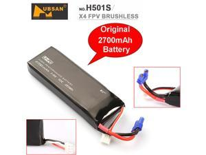 1Pcs Hubsan H501S Original Replacement Battery 7.4V 2700mAh 10C RC Lipo Battery Spare Parts