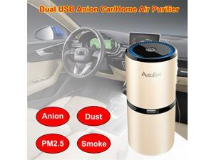 Autobot Portable Office Room Car Air Purifier Oxygen Bar Ozone Ionizer Anion Air Cleaner Freshner ( Gold )