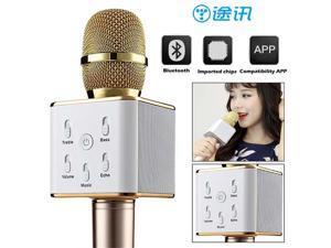 Blueskysea TUXUN Q7 Wireless Handheld Microphone Portable Karaoke Player Handheld Microphone Come Amplifier Speaker For Smart Phones