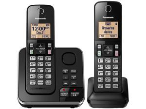 Expandable Cordless Phone with Answering System - 2 Handsets - KX-TGC362B