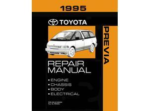 1995 Toyota Previa Shop Service Repair Manual Book Engine Drivetrain OEM