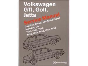 1985-1992 1990 1991 Vw Gti Golf Jetta Shop Service Repair Manual Book Engine
