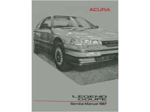 1987 Acura Legend Coupe Shop Service Repair Manual Book Engine Electrical OEM