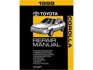 1999 Toyota Corolla Shop Service Repair Manual Book Engine Drivetrain OEM