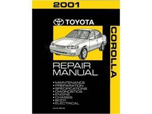 2001 Toyota Corolla Shop Service Repair Manual Book Engine Drivetrain OEM