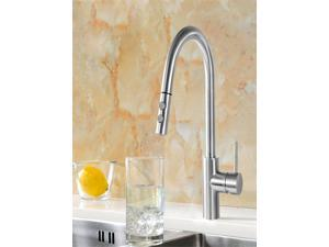 SUPOR Stainless Steel Lead Free Kitchen Faucet - Pull Out Spray Head (211917-07-LS)