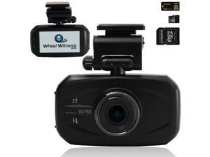 WheelWitness HD PRO Dash Cam with GPS - SuperHD 2560x1080P & 1296P - 170° Wide Angle Lens - 16GB microSD - Lane Departure & Accident Warning,Dashboard Camera Ambarella A7L Camera Car Security DVR WDR