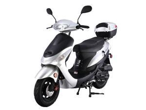 TaoTao ATM50-A1 Gas Street Legal Scooter - Silver