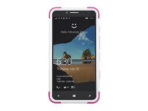 MyBat Carrying Case for Alcatel-5054 Onetouch Fierce XL - Retail Packaging - Cream White/Hot Pink