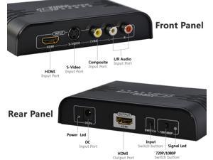 Composite& S-Video& HDMI to HDMI, S-Video/RCA to HDMI Converter Up-Scale