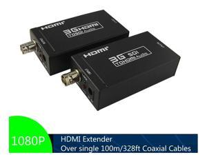 HDMI-SDI & SDI-HDMI Converter.  HDMI Extender Over Single Coaxial Cables UP to 100m, Support 1080P