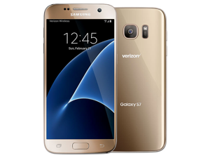 Samsung Galaxy S7 SM-G930V - 32GB (VERIZON) GSM Unlocked - GOLD Platinum , for AT&T, T-Mobile and All GSM Unlocked Worldwide (Read Below for Carrier Compatibility)