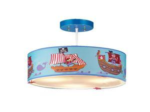 Cartoon Pirate Ship Kid's Room Ceiling Lamps Cute Baby Room Ceiling Light Bedroom Ceiling Lamp