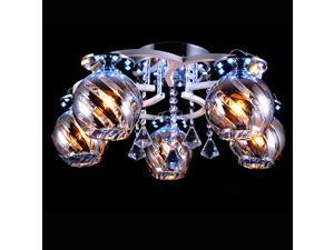 23.6 inch Crystal Glass Living Room Ceiling Lamp Modern Dining Room Led Ceiling Light Bedroom Ceiling Lamps