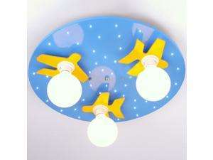 Cute Wood Airplane Boy's Room Ceiling Lamps Creative Child Bedroom Ceiling Lamp Kids Room Cartoon Ceiling Fixture