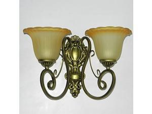 Pastoral Iron Hallway Wall Lamp European Bedsides Wall Lamps Balcony Wall Lights Living Room Wall Sconces