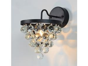 Vintage Iron Crystal Ball Bedsides Wall Lamp Corridor Wall Light Balcony Wall Lights Living Room Wall Sconces