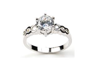 SR 6850-6 Pascollato Jewelry Round CZ Solitaire Sterling Silver Engage