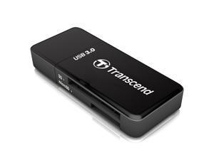 Transcend TS-RDF5K USB 3.0 Support SDHC (UHS-I), SDXC (UHS-I), microSD, microSDHC (UHS-I), and microSDXC (UHS-I) Flash Card Reader-Black/White