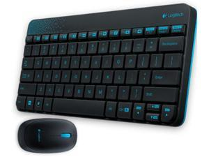 Logitech RF Wireless Combo MK240 12 Function Keys 2.4GHz 1000DPI Both Hands Spill-resitant Keyboard and Mouse-Black/White