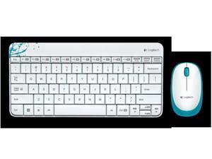 Logitech RF Wireless Combo MK240 12 Function Keys 2.4GHz 1000DPI Both Hands Spill-resitant Keyboard and Mouse-Black/White