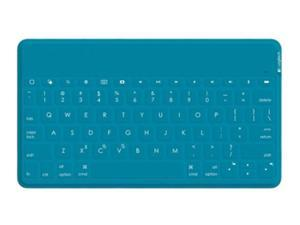 Logitech iK1041 Ultra-portable Independent Spill-resistant Bluetooth Mini Keyboard for iPad/iPhone/AppleTV/All iOS Products-Black/Blue