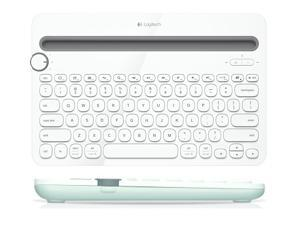 Logitech K480 Bluetooth Multi-Device Mini Wireless Desk Keyboard for Computer,Tablet and Smartphone-Black/White