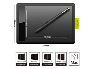"Wacom USB Bamboo Pen Tablet CTL-471/K0-F 6.0"" x 3.7"" Active Area Small Graphics Tablets"