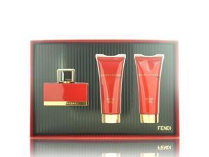 L'acqua Rossa By Fendi - 3 PIECE GIFT SET - 2.5 OZ EAU DE PARFUM SPRAY, 2.5 OZ BODY LOTION, 2.5 OZ SHOWER GEL