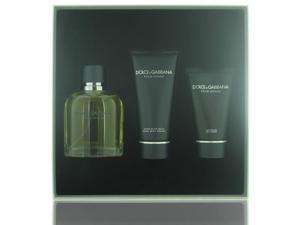 Dolce & Gabbana By Dolce & Gabbana - 3 Piece Gift Set - 4.2 oz EDT SPRAY, 3.3 oz AFTERSHAVE BALM, 1.6 oz SHOWER GEL