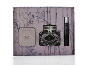Gucci Bamboo By Gucci - 3 PIECE GIFT SET - 2.5 OZ EAU DE PARFUM SPRAY, 0.25 OZ EAU DE PARFUM, 3.3 OZ BODY LOTION