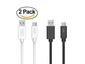 Tronsmart [2 Pack] USB2.0 3.3feet/1m*2 USB-C Male to USB-A Sync & Charging Cable for Type-C Supported Devices Google Nexus 5X / 6P Google Pixel Google Pixel XL LG G5 HTC 10 Lumia 950 - Black+White