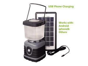 3w Solar Panel Rechargeable Garden Lantern Shed Lamp Light iphone USB Charger