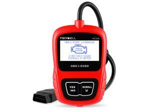 Automotive OBD II Scanners FOXWELL NT200 Obd2 Fault Code Reader Turn off Engine Light Check Engine Trouble Codes Diagnostic Scan Tools Update Online (Red)