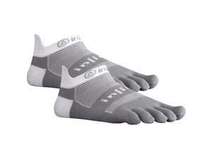 Injinji Run Midweight No Show Xtralife Toe Socks - Gray 2 Pack - S