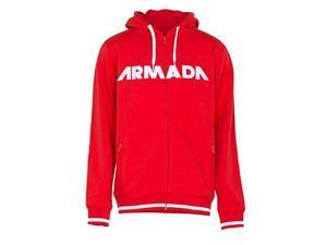 Armada Men's Represent Hoody Full Zip (Red, Medium)