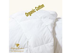 233 TC 600 loft summer fill Queen size 27 oz organic cotton European white down comforter