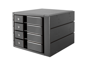 """5.25"""" Tray-Less SATA Mobile Rack for 4 x 3.5"""" HDD"""