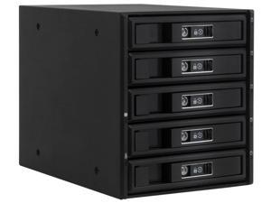 """The KM-5000 SATA mobile rack is the ultimate SATA HDD storage rack in the KM series. It has three drive bay slots and can support up to five 3.5"""" HDD/ 2.5"""" SSD drives, making it suitable for computer"""