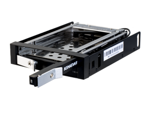 """Kingwin Model: KF-251-BK Led light for power & HDD activity 2.5"""" Dual bay internal hot swap rack Durable dual bay door w/ key lock Patented push/pull bar design for easy inserting & ejecting of H.D.D."""
