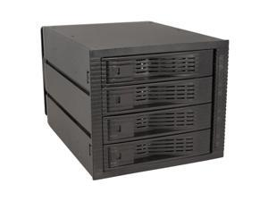 Kingwin Model: KF-4001-BK 3.5? Internal hot swap rack raid-4 bay No inner tray required Space for 4 H.D.D. w/ 3 bay slots Easy transport and secure valuable data Easy open latch door