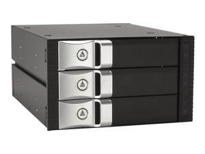 Kingwin KF-3002-BK 3.5? Internal hot swap rack raid-3 bay No inner tray required Space for 3 H.D.D. w/ 2 bay slots Easy transport and secure valuable data Easy open latch door For standard 1? height,