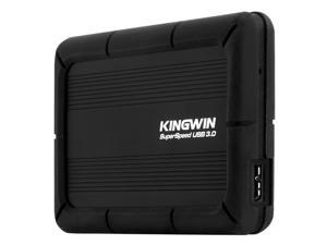 "Kingwin KH-203U3-BKSP Anti Shock External Enclosures for 2.5"" SSD/SATA HDD Up to 5.0 Gbps Data Transfer Rate In USB 3.0"