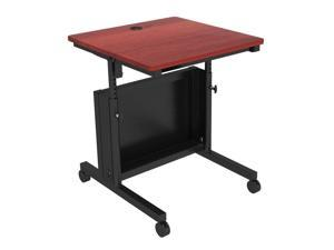 Versa Tables Junction Folding Table, Height Adjustable Flip-Top, Multi-Use Design for Space Saving Storage and Mobility - 30 x 30, Black Frame, Cherry Surface